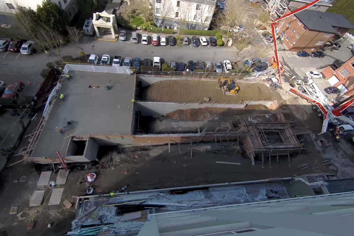 Construction photo from March 10, 2021